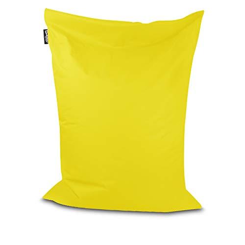 Sitzsack Bodenkissen Indoor Outdoor Riesensitzsack Größen & Farben wählbar Kinder Bean Bag Erwachsene Wasserabweisend Schmutzabweisend (Gelb-100x70 cm)
