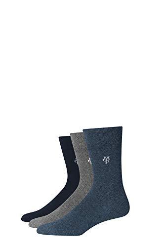 Marc O'Polo Body & Beach Herren M (3-PACK) Socken, Blau (Navy 815), 43/46 (Herstellergröße: 406) (3er Pack)