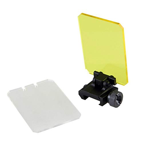 Persei Round/Square Foldable Sight Scope Lens Screen Protector Cover Shield Panel 20mm Rail Mount 4 Rifle Airsoft Scope Sight Hungting (Black-Square)