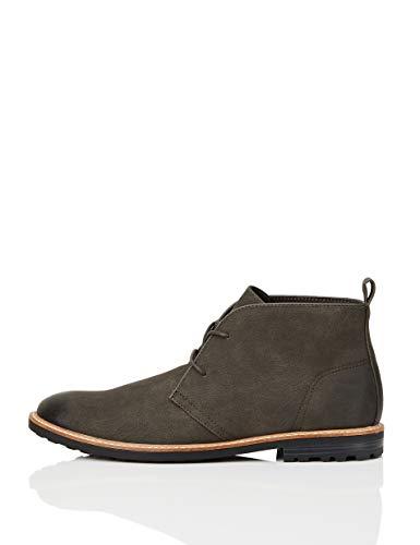 Amazon-Marke: FIND Chukka Boots, Grau (Grey), 43 EU