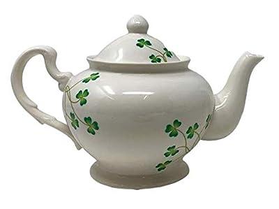 Nantucket Home Floral Shamrock Ceramic Teapot