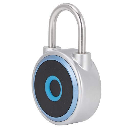 Gmkjh Inicio Huella Digital, candado Bluetooth Smart Lock, Bluetooth Candado de Huella Digital Bloqueo Inteligente de batería de Litio Recargable sin Llave 3.7V