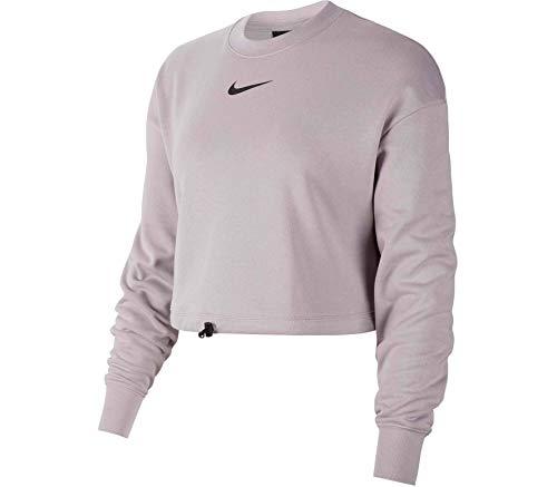 NIKE Sportswear Swoosh - Camiseta de Manga Larga Unisex para Adulto, Color Negro, Oro Gris, Talla 2XL