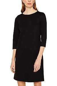 ESPRIT Damen 119EE1E020 Kleid, Schwarz (Black 001), (Herstellergröße: 42)