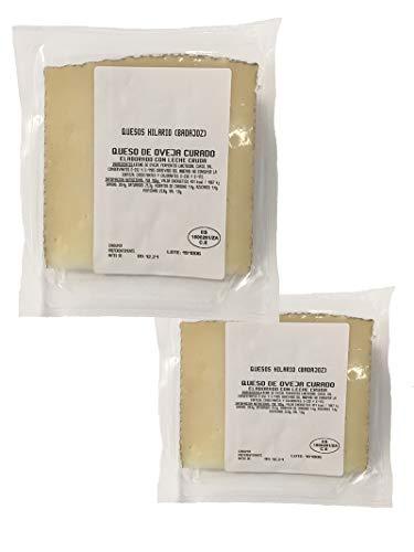 Medio kilo de queso curado de oveja 1/2 kg enviado en 2 cuñas de 250 gr de queso de oveja curado