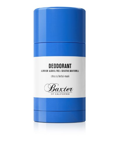 Baxter of California Deodorant for Men, Aluminum & Alcohol Free Clear Stick, Citrus & Herbal-Musk, 2.65 Ounce