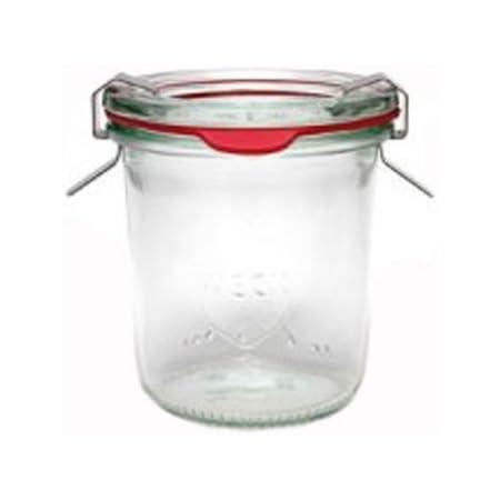 Weck Lot de 24bocaux hermétiques en verre avec joint et couvercle en verre 140ml