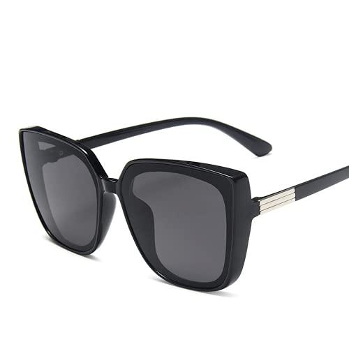 Mcottage Fashion Plastic Cat Eye Mujeres de Gran tamaño Gafas de Sol Diseñador Vintage Retro Espejo de Gafas de Sol para Mujer UV400