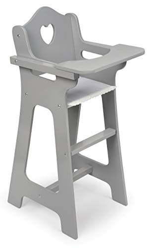 Badger Basket Doll High Chair, Gray/White