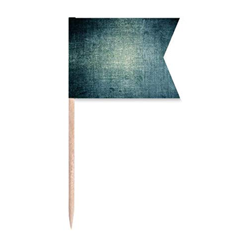 Zahnstocher-Flaggen aus dunklem Metall, raue Textur, Markierung für Party, Kuchen, Lebensmittel, Käseplatte