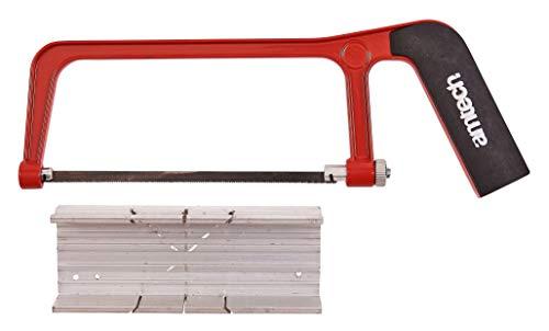 Am-Tech Mini scie à métaux et boîte à onglets en aluminium (Import Grande Bretagne) - Coloris aléatoire