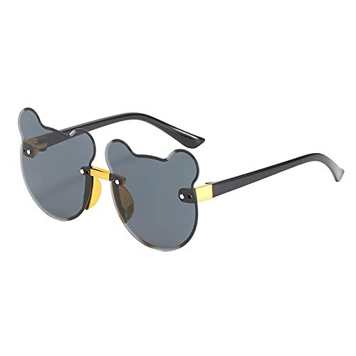 Keepwin Gafas de Sol de Dibujos Animados para Niños Personalidad de Moda Linda Forma de Gato Marco Gafas de Niñas Protección UV