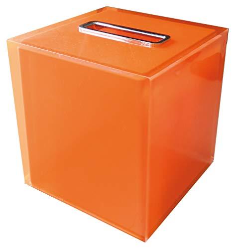 Gedy RA026700000 Porta-Pañuelos, Naranja, Cuadrado