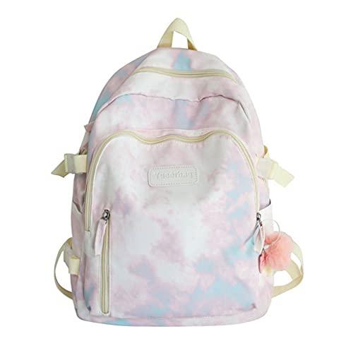 PING Moda Colorido Patrón Escuela Bolsa de Hombro para Adolescentes Niñas Casual Nylon Cremallera Bagpack Viaje al aire libre Mujeres Mochila, Pl, L chiquita