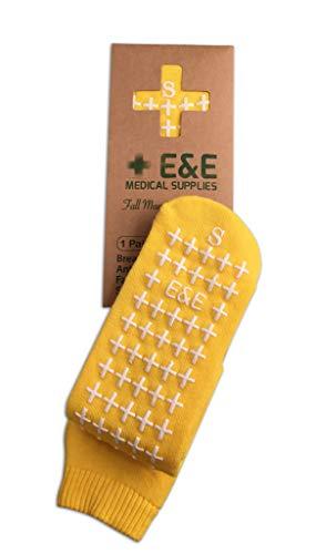 Yellow Double Tread Slipper Socks,Hospital Socks, Non Slip, Non Skids,...