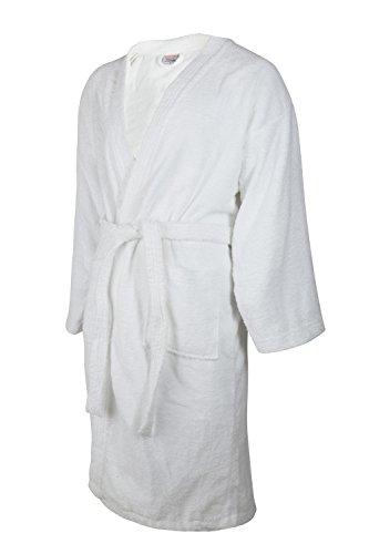 Clinotest Bademantel, Morgenmantel/Saunamantel, aus Frottee, in der Farbe weiß, in verschiedenen Größen, für Damen und Herren (XL)
