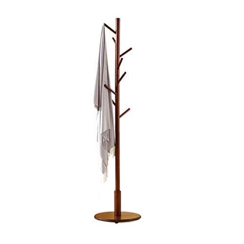 Chutd Kledingrek voor vloer, verticaal, Scandinavisch, van massief hout, eenvoudig, voor slaapkamer, eenpolig, modern, kleerhanger, afmetingen 41 x 41 x 171 cm