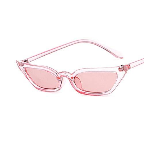 SCAYK Pequeño Ojo Gafas de Sol Tinte Caramelo Colorido Gafas Gafas de Sol Moda Gafas de Sol Gafas de Ojos Moda Gafas de Sol para Las Mujeres (Lenses Color : C6Pink)