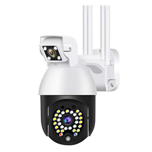 OSALADI Cámara de Seguridad para El Hogar 1080P 2MP PTZ IP Wifi Inteligente Cámara IP Interior Inalámbrica con Cámara de Visión Nocturna para Perros Y Mascotas