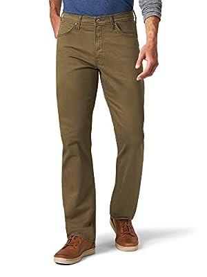 Wrangler Men's Authentics Straight Fit Twill Pant, Thistle, 38W x 32L