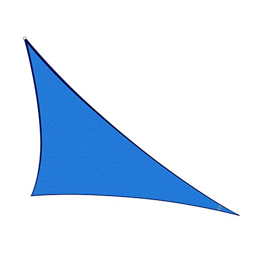 Cool Area Sun Shade Sail for Patio, Outdoor UV Block, Right Triangle 16'5'' X 16'5'' X 22'11'', Blue