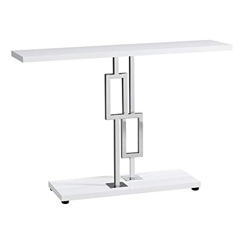 "Mejor Monarch Specialties 47"" Console Table - Sleek and Modern Accent Table for Your Home (Cappuccino/Dark Brown) (I 2445) crítica 2020"