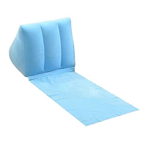 YI'HUI Gonfiare Campeggio Spiaggia Lettino Posteriore Cuscino Sedia Cuscino di Aria Letto Pigro Divano Materasso,Light Blue