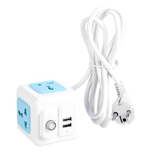 Regleta De Enchufes, Toma USB Proporciona Un Máximo De 2.1A Por Puerto Con Puerto USB Para Oficina Para Auriculares Y Tabletas