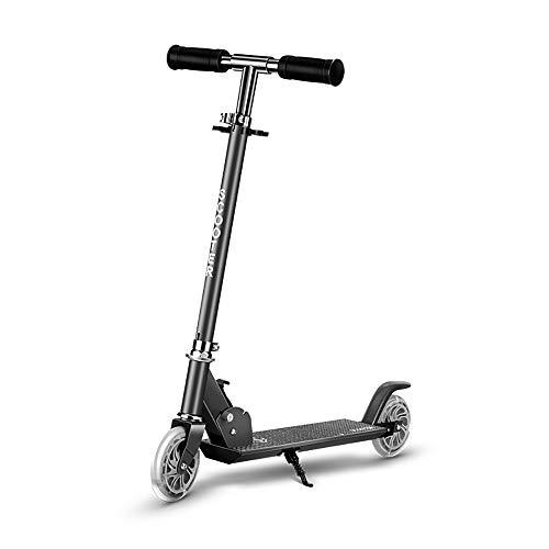 De Dos Ruedas de Vespa de elevación Plegable Todas Aluminio Vespa Vespa Pedal, para los niños, Las Muchachas de los Mejores Regalos,Negro