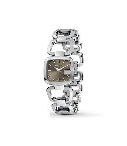 Gucci G-Gucci Ladies Acero inoxidable esfera marrón reloj YA125507
