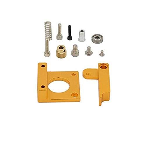 Accesorios de la impresora 3D de bricolaje para el extrusor Mk8 Bloque de marco de aluminio Accesorios del bloque de aluminio extruido - Oro Positivo