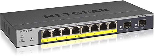 Netgear GS110TP - Switch Red Gigabit Ethernet