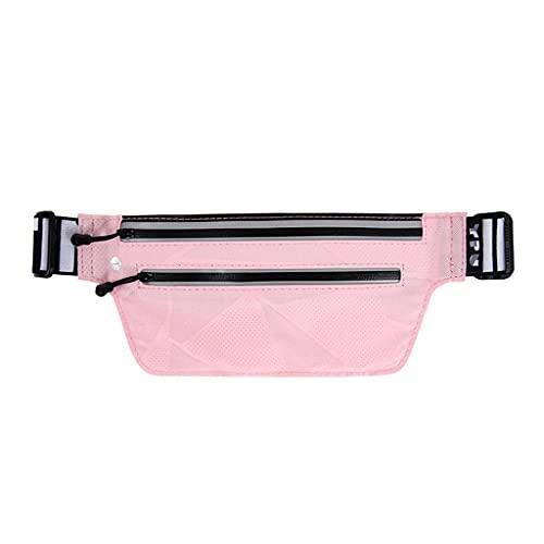 Bolsa de Cintura para Correr Ultra Delgada al Aire Libre Delgado e Invisible Secado rápido y Transpirable Holder (Color : Pink)