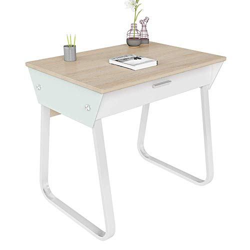 N/Z Daily Equipment Computer Desk 80cm Office Desk Computer Table Study Writing Desk for Home Office with Drawer 80 * 58 * 76CM