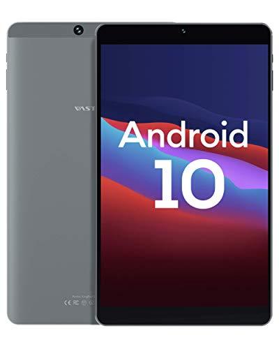 Android 10.0 タブレット、Vastking SA8 Octa-Coreプロセッサー、3GB RAM、32GB ストレージ、8インチAndroid タブレット、1200x1920 IPS、5G Wi-Fi、USB Type Cポート、GPS、13MPカメラ、ブルートゥース、ブルーライト遮断スクリーン、オンライン授業 顔認証 二年保証 シルバーグレー