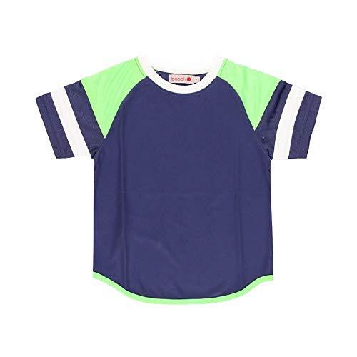 boboli - Camiseta de Deporte Niño Manga Corta, Talla de 4 Años   Camiseta Deportiva, 100% Algodón   Punto de Niño   con Mangas   Combinada en Tres Colores   Deportiva