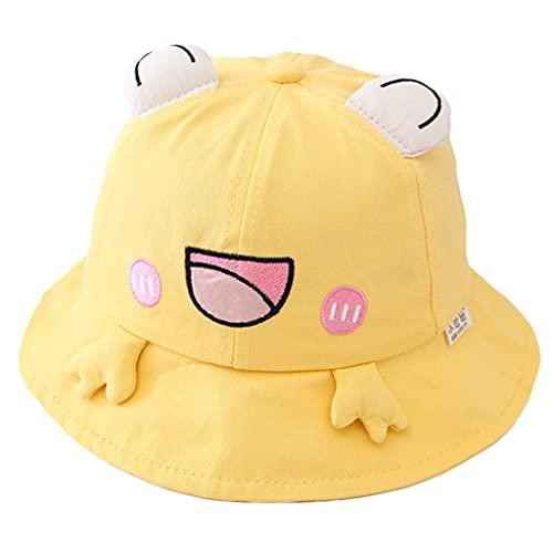 Wenyounge Niños Bucket Cap Cartoon Frog Design Bucket Hat Gorra para el Sol Portátil