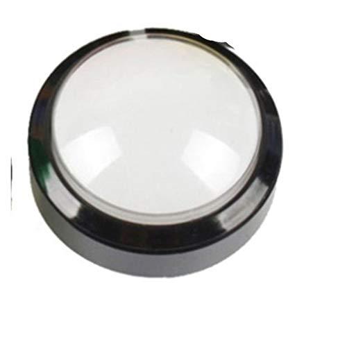 XINGYAO Interruptor Giratorio Botón Arcade 5 Colores Lámpara de luz LED 60mm Convexity Big Redondo Arcade Videojuego Player Interruptor de botón (Color : White)