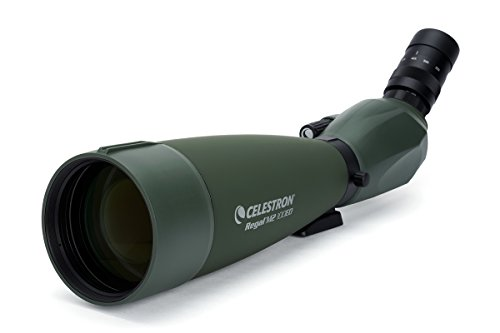 Celestron Regal M2 100ED Spotting Scope – Fully Multi-Coated Optics – Hunting Gear – ED Objective Lens for Bird Watching, Hunting and Digiscoping – Dual Focus – 22-67x Zoom Eyepiece, OD Green (52306)