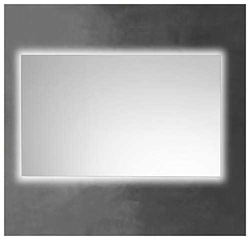 Espejo de Baño Lux de 60x100 Horizontal con Luz Led Blanca Perimetral de 5700K Decorativa Indirecta Incorporada sobre el Marco Interior de Fácil Instalación