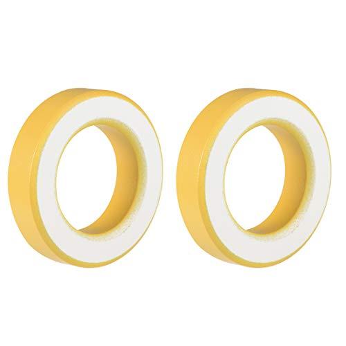 Sourcingmap – 2 anillos de ferrita, 35,4 x 57,7 x 14 mm, polvo Toroide, color amarillo y blanco