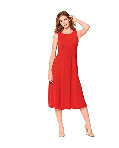 Burda 6133 Schnittmuster Kleid (Damen, Gr. 34-44) Level 2 leicht