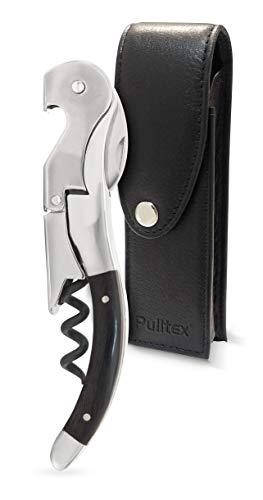 Pulltex Pulltaps Tire-bouchon avec manche en corne de Cordoba et étui en cuir