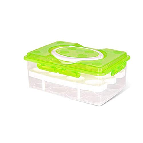 Urisgo Huevera multifunción, caja de transporte para 24 huevos, prácticas cajas de...