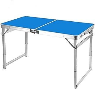 Mesa de Camping Picnic Altura Ajustable Mesa Plegable de Exterior portátil aleación de Aluminio Mesa de Viaje Barbacoa Se...