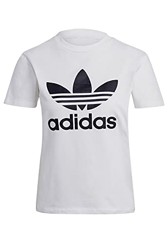 adidas GN2899 Trefoil Tee T-Shirt Donna White 40