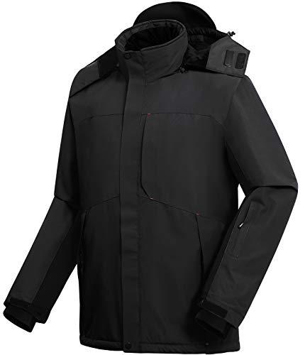 Vzteek Chaqueta de esquí para hombre, chaqueta de snowboard funcional Hardshell, chaqueta de...