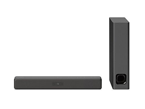 Sony HT-MT500 - Barra de sonido compacta (2.1 canales, Wifi, Bluetooth, NFC, S-Force Pro Front surround, subwoofer inalámbrico, compatible con Hi-Res Audio, wireless surround y multiroom)