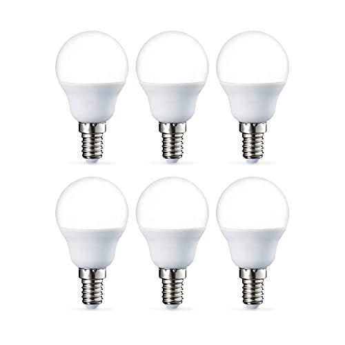 Amazon Basics Petite ampoule LED E14 P45 type globe, avec culot à vis, 2W (équivalent ampoule incandescente de 25W), transparent avec filament - Lot de 6