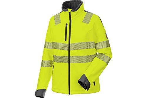 WÜRTH MODYF Warnschutz Softshelljacke Neon Damen gelb: Die zertifizierte Damen Jacke aus der German Design Award Winner Kollektion 2019.